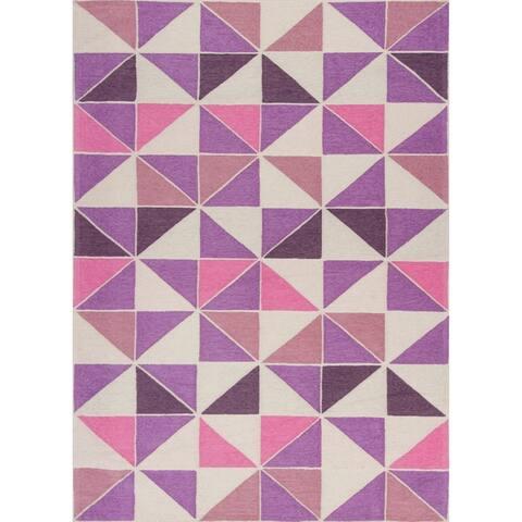 Retreat Geometric Pink Rug