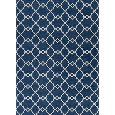 Domani Casual Grey Geometric Area Rug
