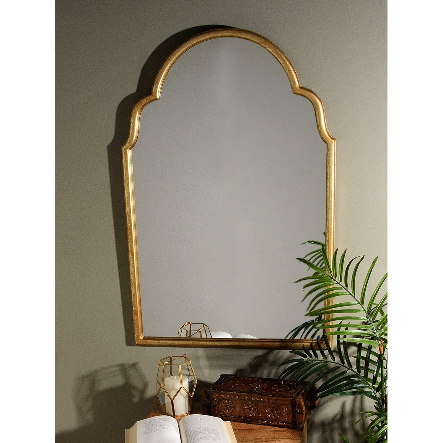 Apprehensive Antique Wooden Wall Hanging Mirror Antique Furniture Great Vintage Condition Online Discount