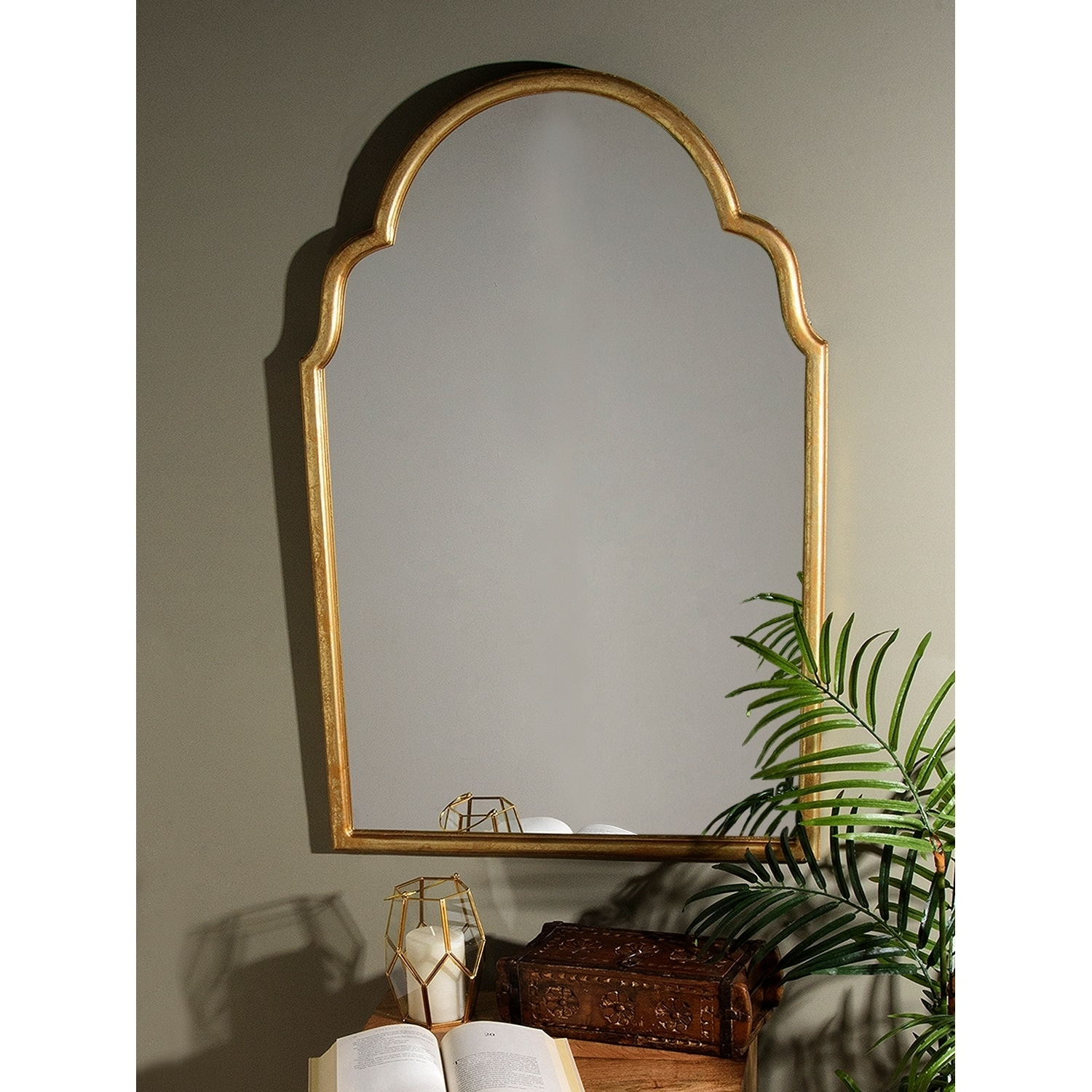 Antiques Apprehensive Antique Wooden Wall Hanging Mirror Edwardian (1901-1910) Great Vintage Condition Online Discount