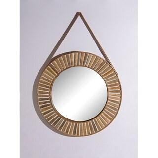 "Aurora Home Gold Moroccan Arch Mirror - Antique Brown - 24""Dia."