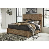 Grindleburg Reclaimed Pine Panel Bed
