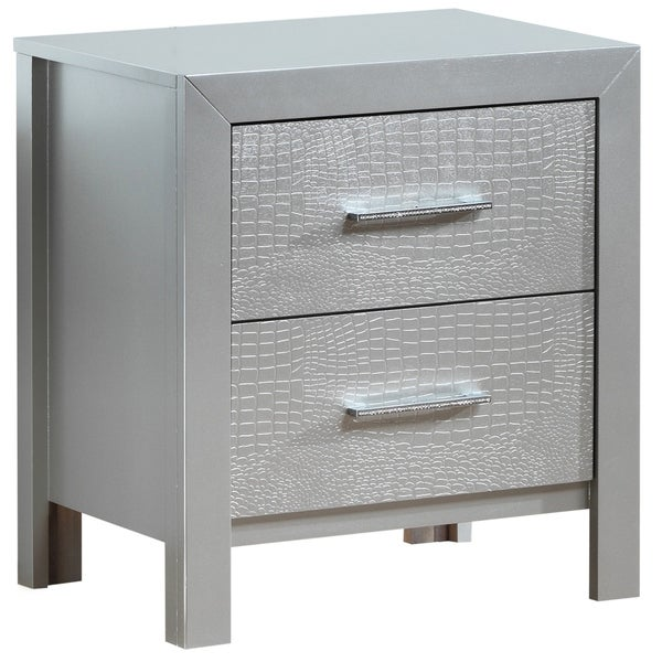 LYKE Home Everglades Silver/Champagne Nightstand