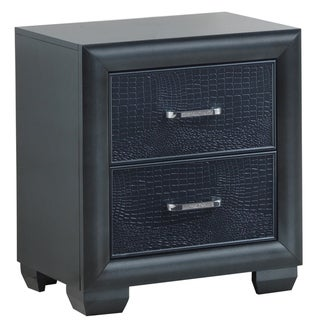 LYKE Home Grace Pearl Black Nightstand