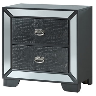 LYKE Home Holly Charcoal Nightstand