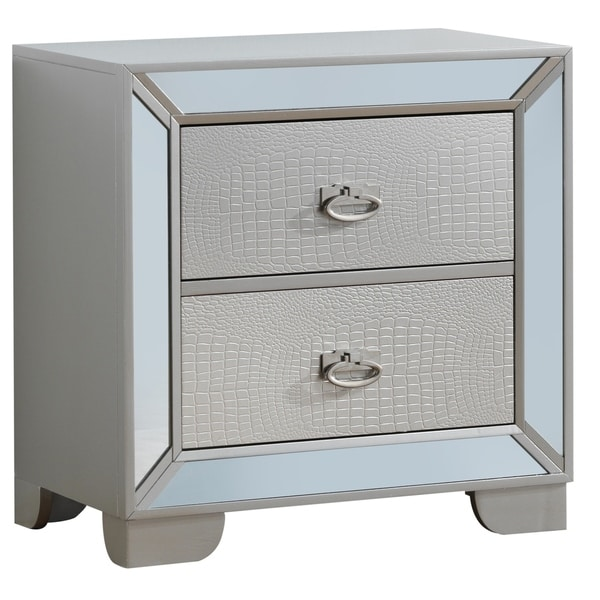 LYKE Home Holly Textured Nightstand