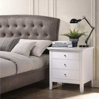 Copper Grove Bacharach White 3-drawer Nightstand