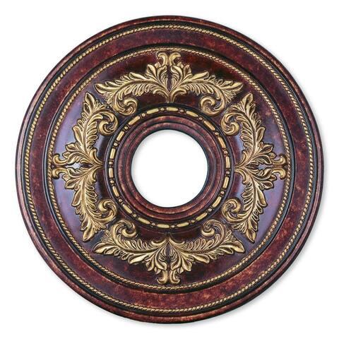 "Livex Lighting Versailles Verona Bronze Ceiling Medallion - Verona Bronze - 18""Dia. x 1.5""H"