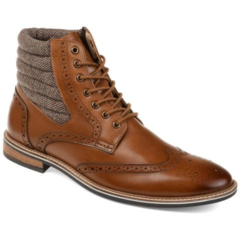 Thomas And Vine Mens Apollo Wingtip Leather Two-tone Boots by  Today Only Sale