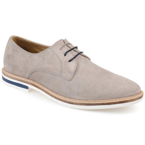Thomas & Vine Mens Garison Faux Suede Perforated Plain Toe Derby