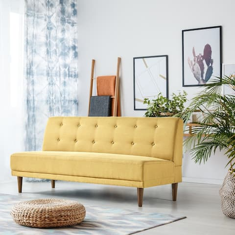 Priage by Zinus Mustard Yellow 66-inch Armless Sofa