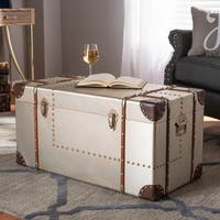 Baxton Studio French Industrial Silver Metal Storage Trunk