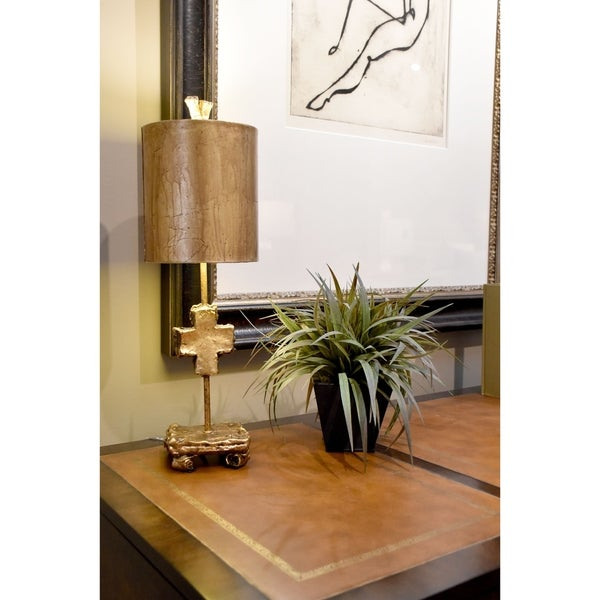 Shop Red Bell Gold Buffet Table Lamp By Lucas Mckearn