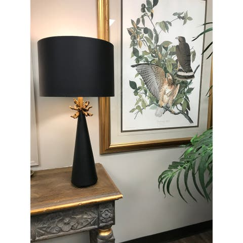 Neo Black and Gold Buffet Table lamp By Lucas McKearn