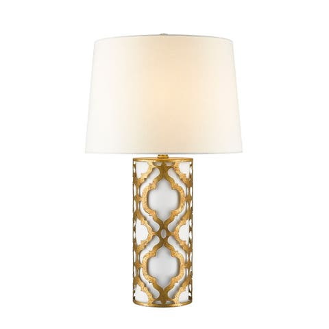 Arabella Table Lamp in Weathered Gold By Lucas McKearn