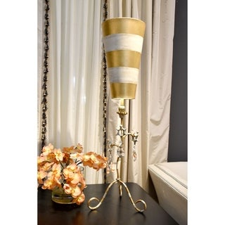 Lucas McKearn Gold and Crystal Buffet Table Lamp