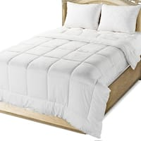 Circles Home Quilted Down Alternative Comforter Cotton Cover White