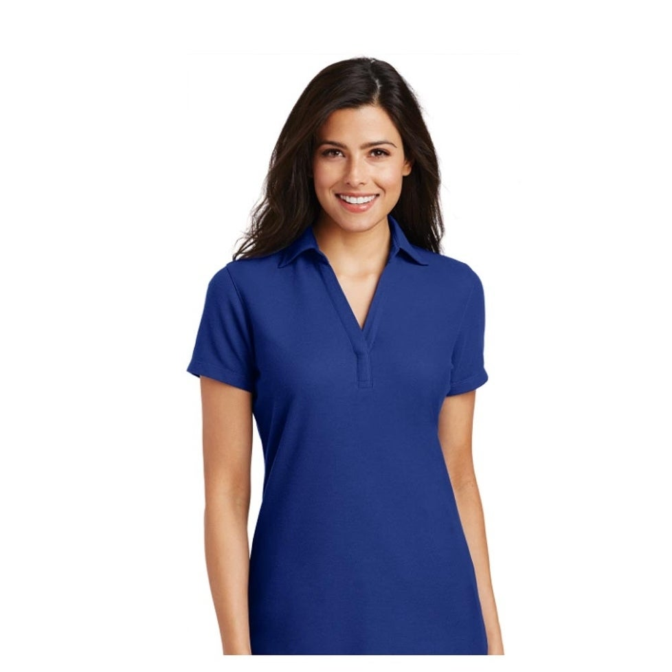 Port Authority Ladies Silk Touch Y-Neck Polo