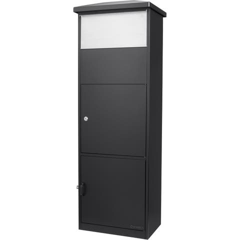 MPB-600 Black Parcel Box with Package Compartment