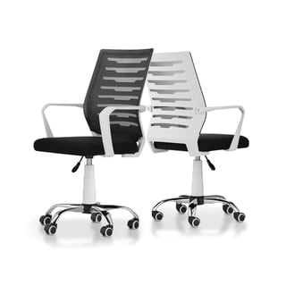 Furniture of America Luke Modern White Fabric Ergonomic Office Chair