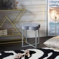 Mia Quatrefoil Velvet Vanity Seat