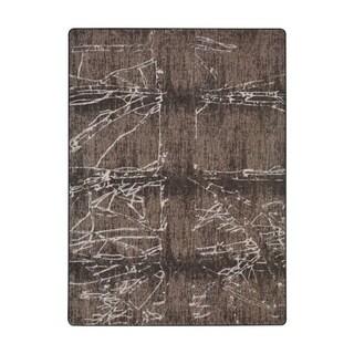 "Joy Carpets Fractured Nylon Umber Rectangular Area Rug - 7'8"" x 10'9"" - 7'8"" x 10'9"""