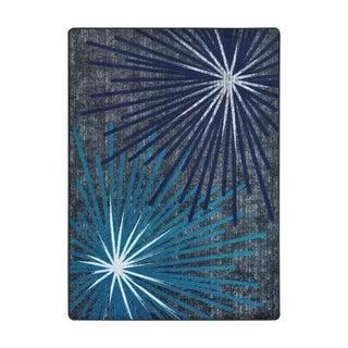 "Joy Carpets Sputnik Nylon Sapphire Rectangular Area Rug - 3'10"" x 5'4"" - 3'10"" x 5'4"""
