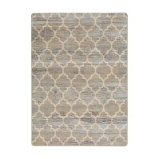"""Joy Carpets Antique Trellis Nylon Hazelwood Rectangular Area Rug - 7'8"""" x 10'9"""" - 7'8"""" x 10'9"""""""