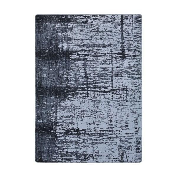 "Joy Carpets Winterhaven Nylon Charcoal Rectangular Area Rug - 3'10"" x 5'4"" - 3'10"" x 5'4"""