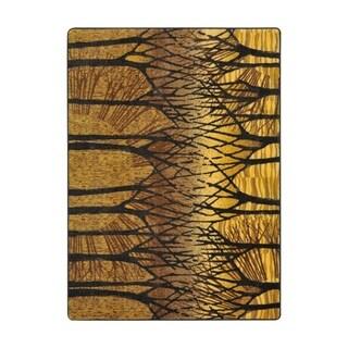 """Joy Carpets Woodland Way Nylon Goldenrod Rectangular Area Rug - 3'10"""" x 5'4"""" - 3'10"""" x 5'4"""""""