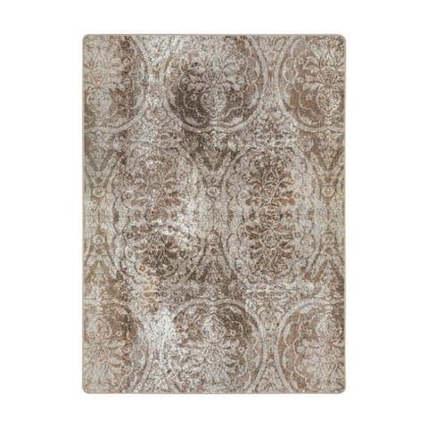 "Joy Carpets Thinly Veiled Nylon Antique Taupe Rectangular Area Rug - 7'8"" x 10'9"" - 7'8"" x 10'9"""