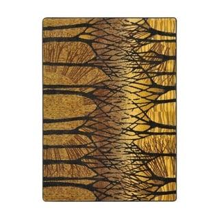 """Joy Carpets Woodland Way Nylon Goldenrod Rectangular Area Rug - 5'4"""" x 7'8"""" - 5'4"""" x 7'8"""""""