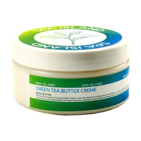 Spa Island 5.7 Oz Green Tea Body Butter Cream - 3 Pack