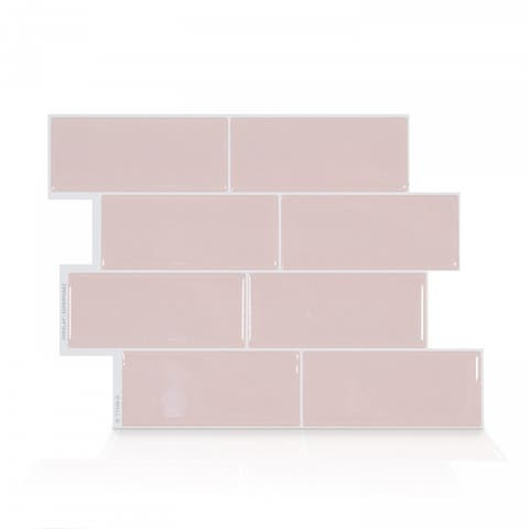 Metro Ava 11.56 in. x 8.38 in. Peel and Stick Self-Adhesive Decorative Mosaic Wall Tile Backsplash (4-Pack)