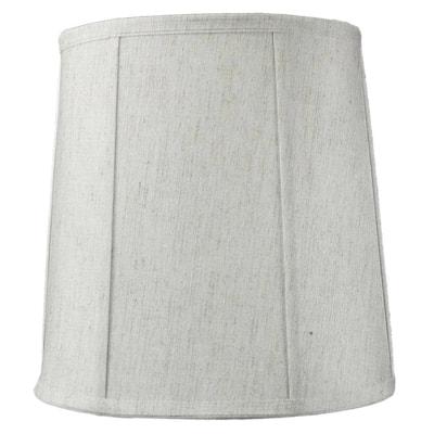 "14""x16""x17"" Tall Drum Softback Lampshade Textured Oatmeal Fabric"