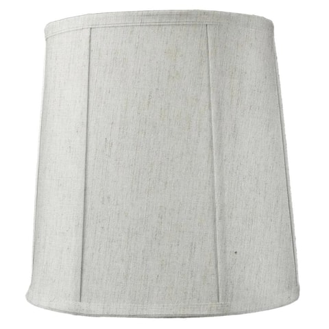 "14""x16""x17"" Tall Drum Softback Lampshade Textured Oatmeal Fabric"