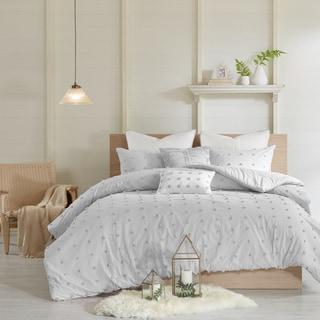 Link to Urban Habitat Maize Grey Cotton Jacquard 7-piece Full/ Queen Size Comforter Set (As Is Item) Similar Items in As Is