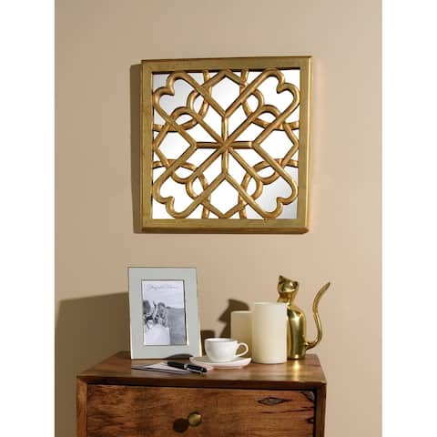 Aurora Home Decorative Square Mirror Wall Panel - Antique Gold - 16W X 16H