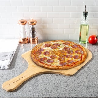 Pizza Peel- Eco-Friendly Bamboo Classic Paddle for Baking and Cooking- Party Serving Tray by Classic Cuisine