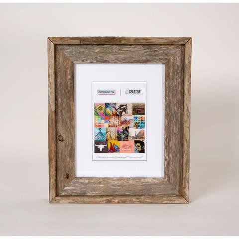 Rustic Barnwood Picture Photo Wall Mount Frame