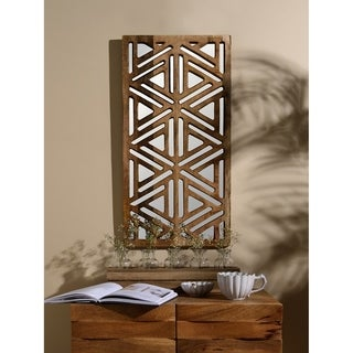 Aurora Home Geometric Mirror Wall Panel - Antique Brown - 15W X 29H