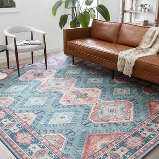 Link to Alexander Home Leanne Traditional Distressed Printed Area Rug Similar Items in Rugs
