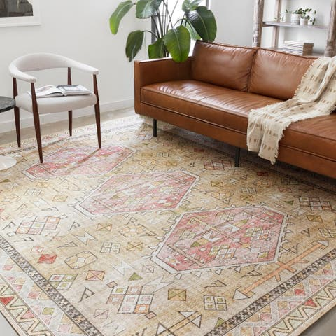 Alexander Home Leanne Aztec Distressed Printed Area Rug