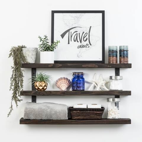 Del Hutson Designs Industrial Grace Three-Tier Floating Shelves