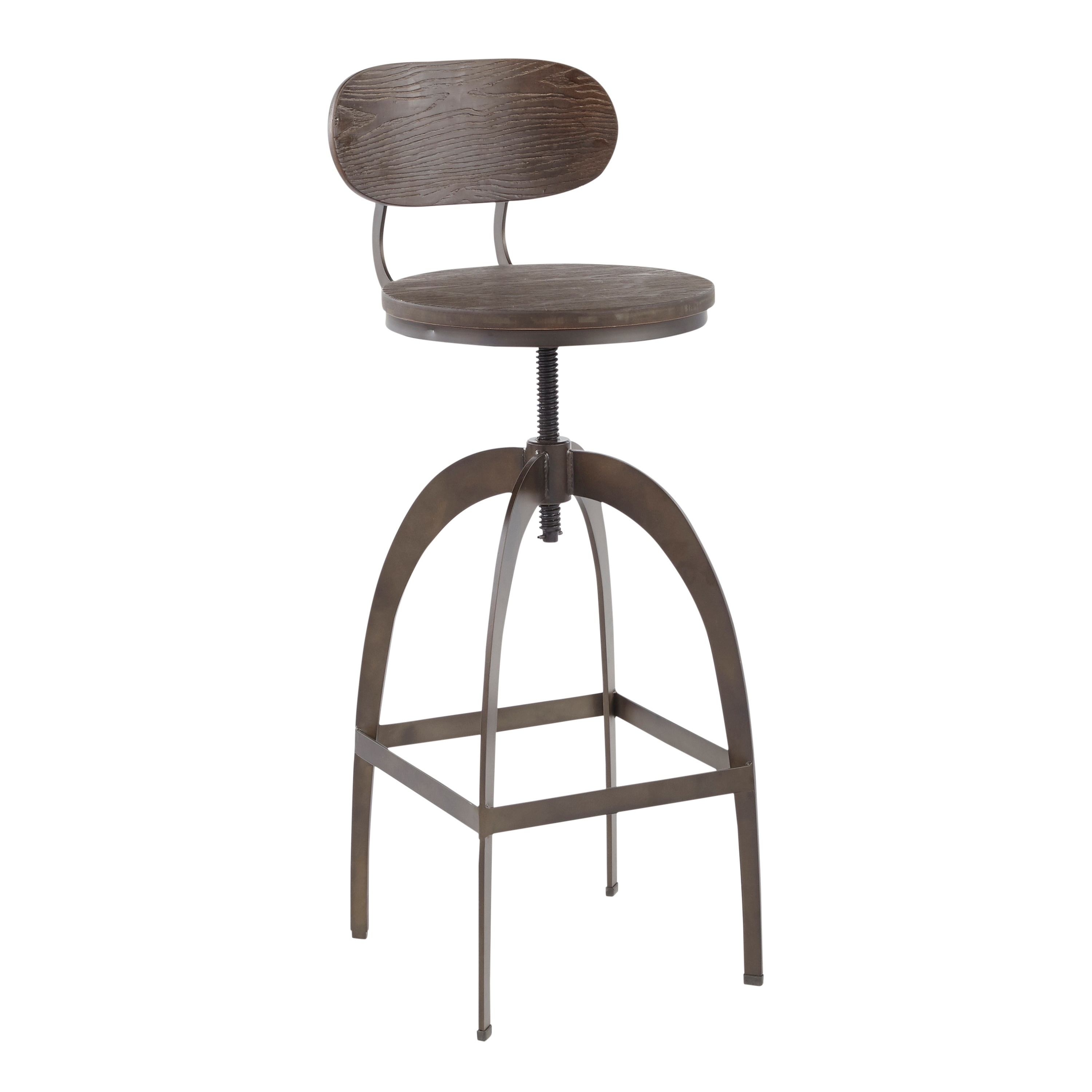 Swell Carbon Loft Goddard Industrial Metal And Wood Mid Back Bar Stool Squirreltailoven Fun Painted Chair Ideas Images Squirreltailovenorg