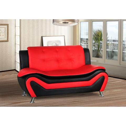 Jasmine Faux leather Living room Loveseat