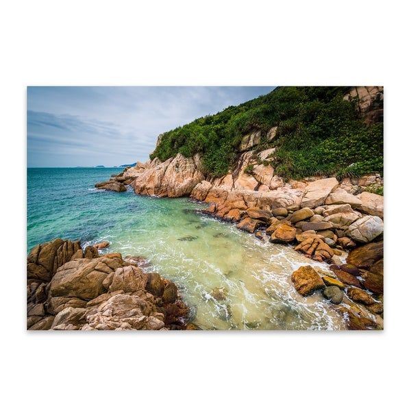 Noir Gallery Jon Bilous Shek O Beach Hong Kong Shek O Beach Coastal Multicolored Aluminum Indoor Outdoor Wall Art Print