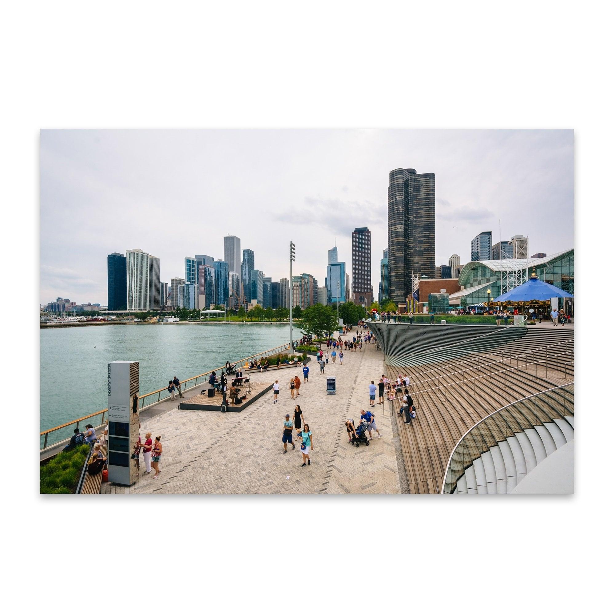 Navy Pier Chicago Skyline