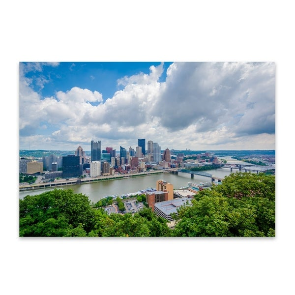 Noir Gallery Pittsburgh Skyline Cityscape Metal Wall Art Print. Opens flyout.