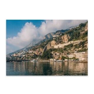 Jon Bilous 'Amalfi Coastal 03' Noir Gallery Amalfi Coast Italy Photography Wall Art Print